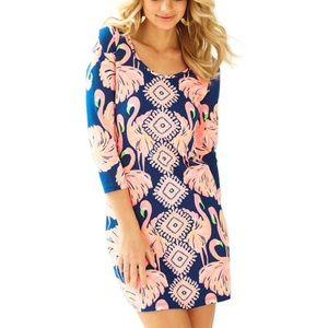 Lilly Pulitzer Beacon Flamingo Print Tee Dress XS